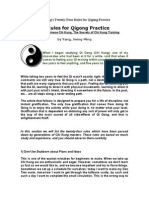 Dr. Yang Twenty-Four Rules for Qigong Practice.doc