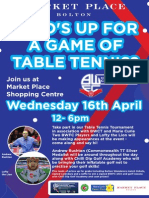 BWCT April Table Tennis Bolton