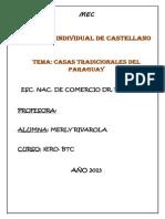 Casas Tradicionales Del Paraguay