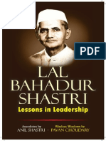Lal Bahadur Shastri - Lessons in Leadership co-authored by Anil Shastri and Pavan Choudary