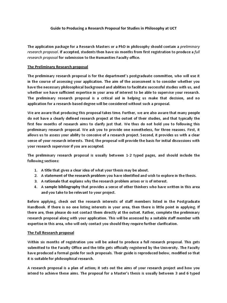 senior thesis proposal example