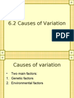 6.2 Causes of Variation