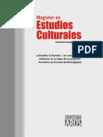Magister en Estudios Culturales