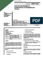 NBR 5429 NB 309-04 - Planos de Amostragem e Procedimentos Na