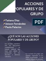 Acciones de Grupo y Populares