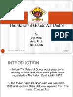 Unit 3 Sale of Good Act