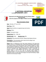 Perskindol National Mountain Running Championships 2014 Information Sheet