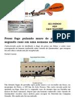 Preso foge pulando muro de presídio; é o segundo caso em uma semana na Paraíba
