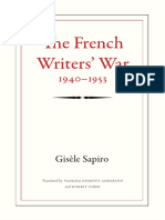 The French Writers' War, 1940–1953 by Gisèle Sapiro