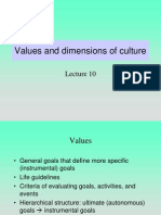 Lectures 10 11 VALUES