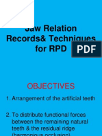 Jaw Relation Records for RPD