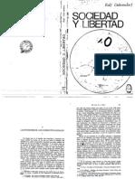 Dahrendorf Sociedad y Libertad