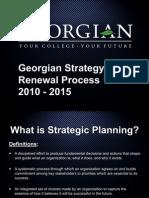 Georgian College Strategy Renewal Process 2010-2015