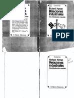 Hyman 1981 IntroyCapitulo1- Relaciones Industriales
