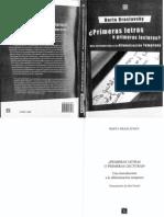 Braslavsky (2009) Primeras Letras o Primeras Lecturas