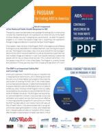 2014 AIDSWatch HIV & Ryan White Program Fact Sheet