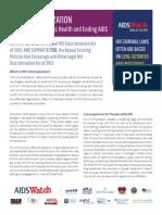 2014 AIDSWatch HIV Criminalization Fact Sheet