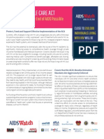 2014 AIDSWatch HIV& ACA Fact Sheet