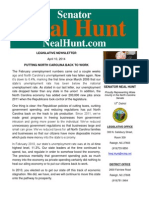 April Legislative Newsletter from Senator Neal Hunt