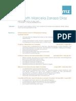 Yaneth Marcela Zaraza Díaz Resume