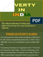Magnitude of Poverty in India