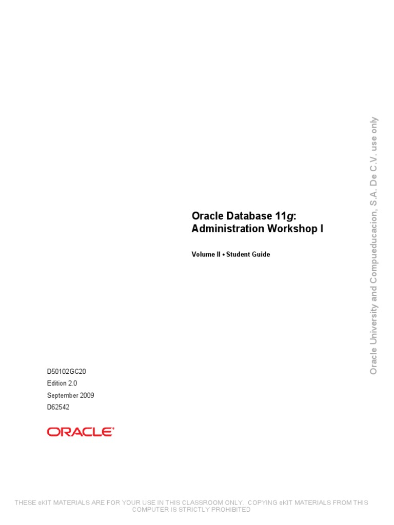 Oracle Database 11g Ocm Exam Preparation Workshop Download
