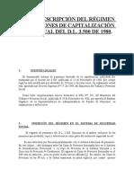 BREVE DESCRIPCIÓN DEL RÉGIMEN DE PENSIONES DE CAPI
