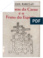AS OBRAS DA CARNE E O FRUTO DO ESPÍRITO