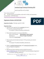 Registration Details of AILT&W 2014