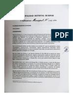 Ordenanza Municipal Ripan Huánuco