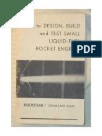 Como diseñar construir y probar pequeños motores cohetes de combustible líquido
