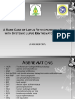 A Rare Case of Lupus Retinopathy