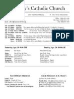 Bulletin for April 13, 2014