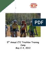 2014 Triathlon Training Camp Guide