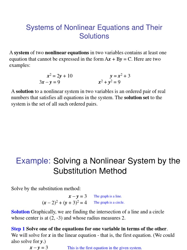7.4 | nonlinear system | equations