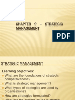 Chapter 9 – Strategic management