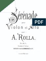 -Rolla Ales. Serenade Op.8 BI 68 for Violin and Viola Parts and Manuscript
