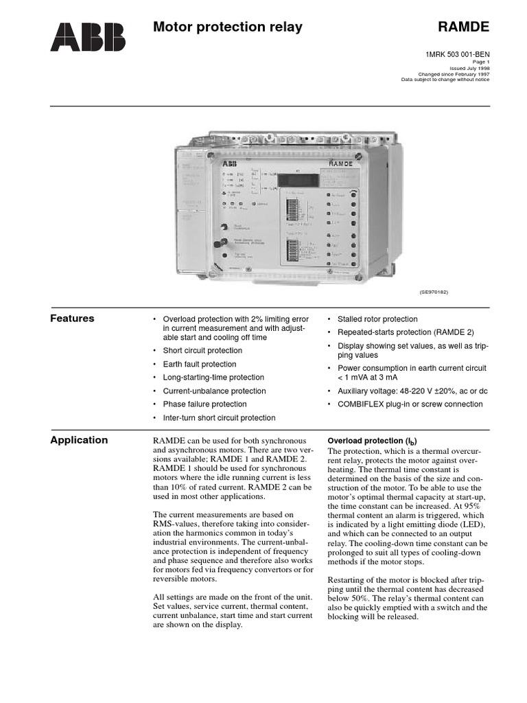 Abb Ramde Relay Manuals Wire Data Blue Ox Bx88267 Led Wiring Kit Power Supply Rh Es Scribd Com