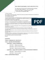 Code Des Devoirs Professionnels Des Architectes