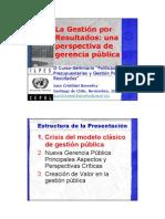 La Gestión por Resultados - una perspectiva de gerencia pública Nov 20
