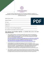 Undergraduate Travel Warning Release Waiver