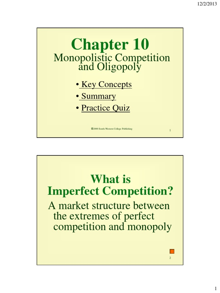 overview of perfect and imperfect market structures Characteristics and outcomes of the perfectly competitive market structure episode 26: perfect competition by.
