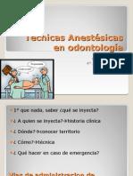 Tecnicas Anestesicas en Odontologia