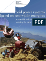 Hybrid Power Systems Based on Renewable Energies
