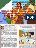 HOJITA EVANGELIO DOMINGO DE RAMOS A COLOR
