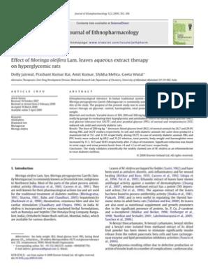 df Effect of Moringa Oleifera Lam Leaves Aqueous Extract