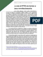 Polmica Con El PTD en Torno a La Lnea Revolucionaria