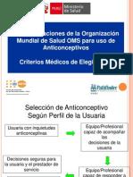 Presentacion 5 Criterios médicos elegibilidad OMS