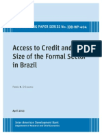 Access to Credit and the Size of the Formal Sector in Brazil