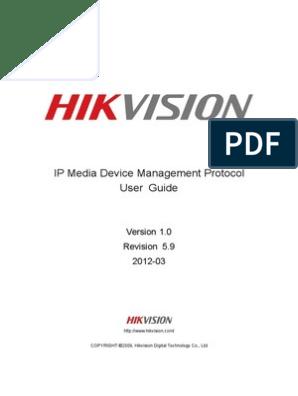 HIKVISION CGI IPMD V1 5 9 | Internet Standards